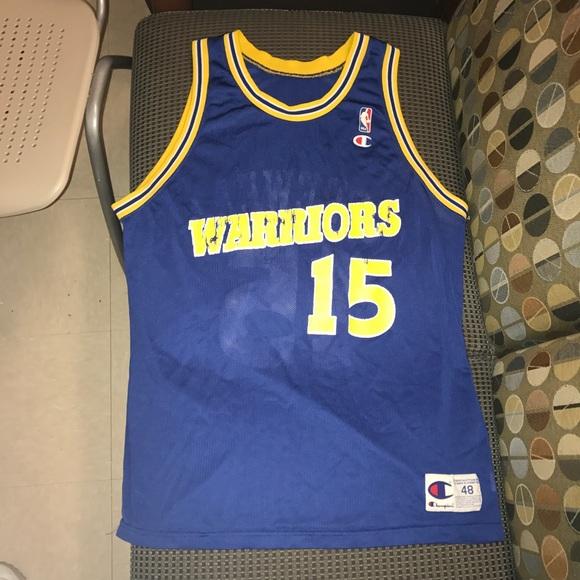 bee0e9b0 Champion Shirts | Latrell Sprewell Golden State Warriors Jersey ...